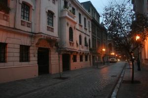 Rua Paris, onde fica o hotel de mesmo nome